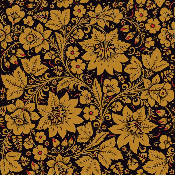 Black and Gold wallpaper for walls