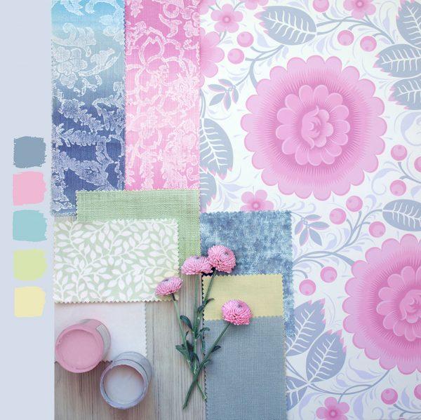 Pastel Pink Wallpaper Moodboard
