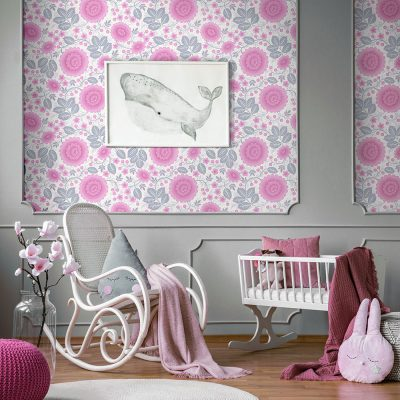 Girls Room wallpaper
