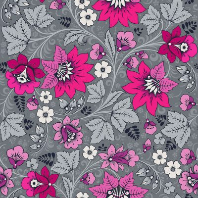 Milana Hot Pink Grey Interior Wallpaper For Walls