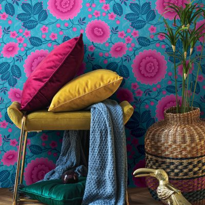 Bold Floral Wallpaper