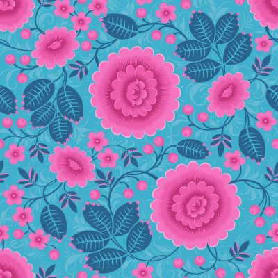 Bold Wallpaper. Bold Pink and Blue Wallpaper