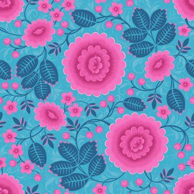 Bold Wallpaper. Bold Pink and Blue Wallpaper
