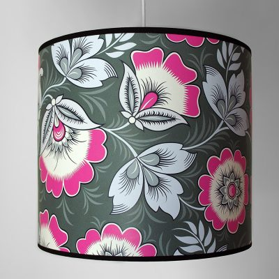 Neva Pink and Grey Lampshade Olenka Design